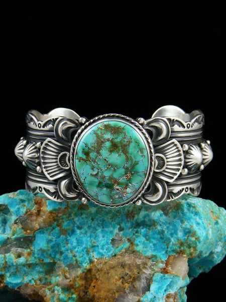Navajo Jewelry Sterling Silver Natural Royston Turquoise Cuff Bracelet
