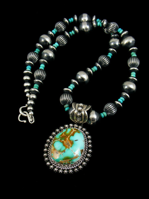 Native American Royston Turquoise Necklace by Happy Piasso - PuebloDirect.com - 1