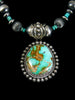 Native American Royston Turquoise Necklace by Happy Piasso - PuebloDirect.com - 2