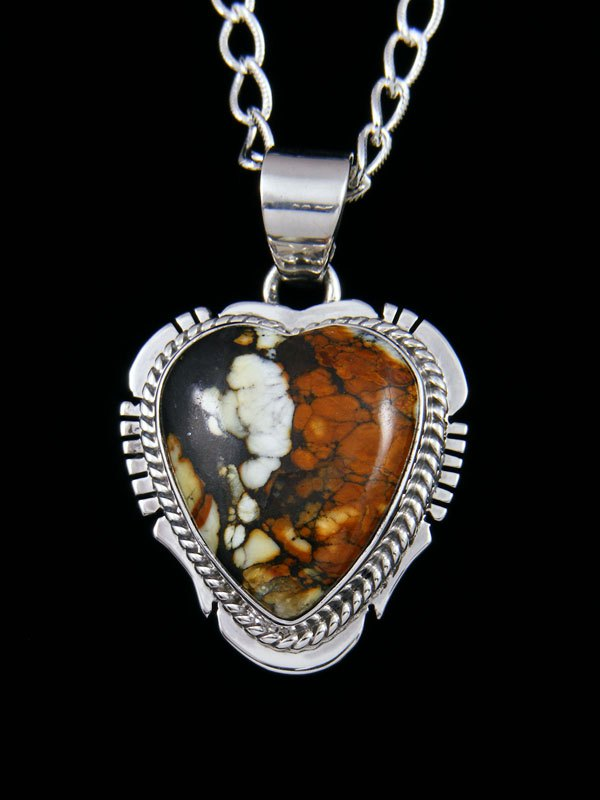 Native American Indian Jewelry Nevada Variscite Heart Pendant