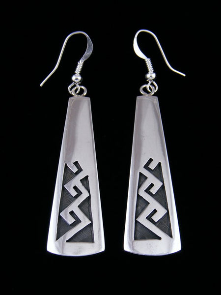 Sterling Silver Hopi Dangle Earrings