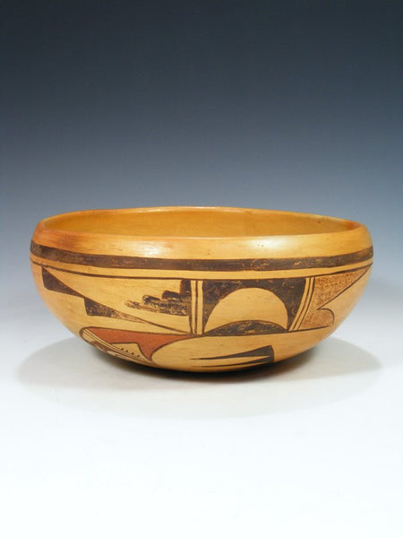 Vintage Hopi Hand Coiled Pottery Bowl