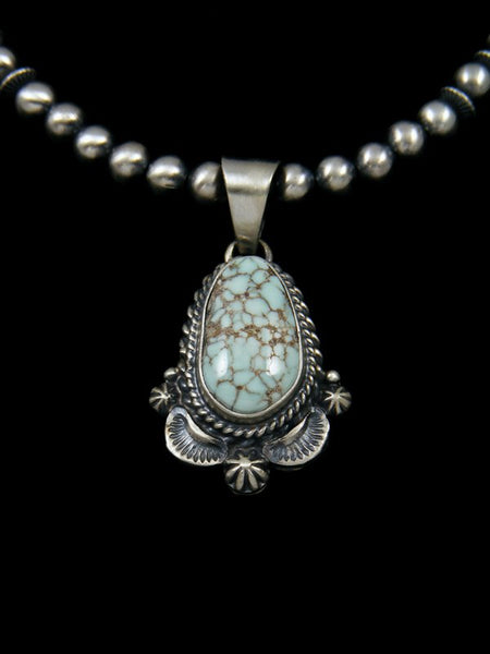 Native American Sterling Silver Dry Creek Turquoise Necklace