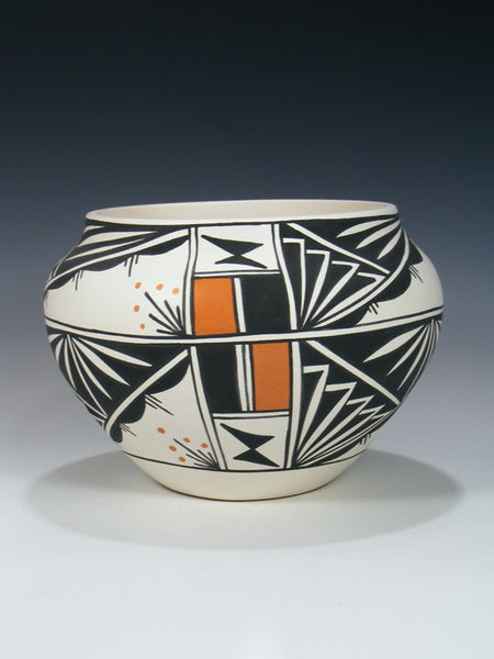 Acoma Hand Painted Pueblo Pottery Bowl