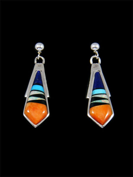 Native American Multi Stone Inlay Post Earrings