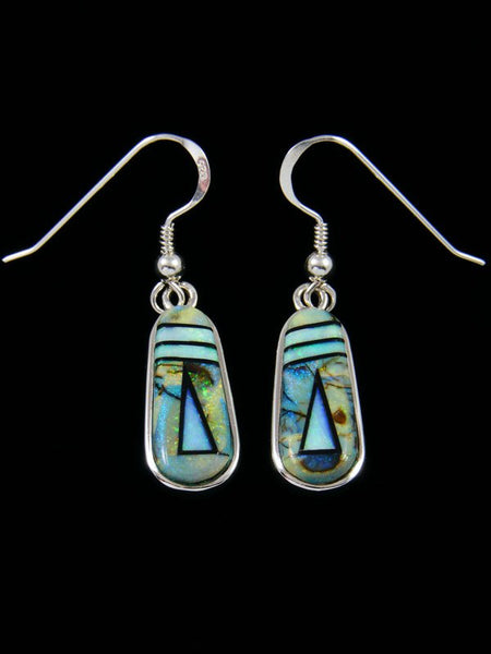 Native American Inlay Monarch Opal Dangle Earrings
