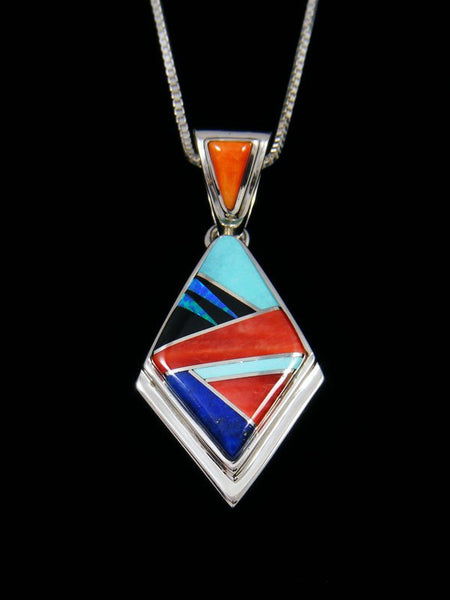 Native American Multistone Inlay Pendant