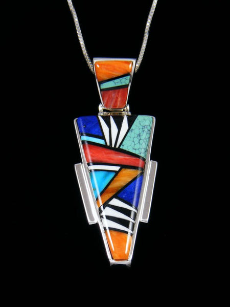 Native American Inlay Multistone Pendant