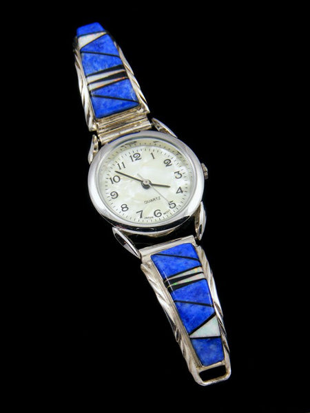 Native American Lapis and Opalite Inlay Ladies' Watch