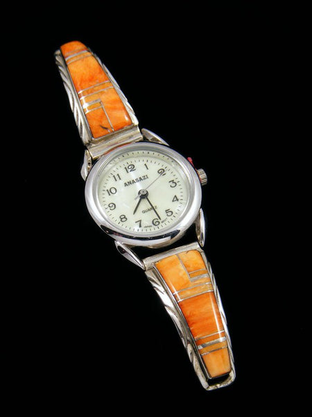 Native American Spiny Oyster Inlay Ladies' Watch