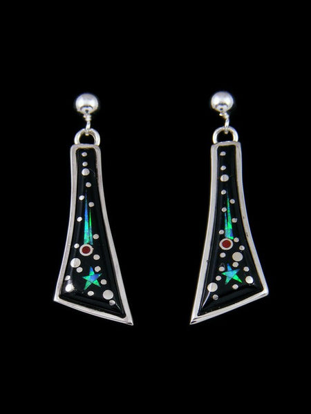 Native American Inlay Night Sky Post Earrings