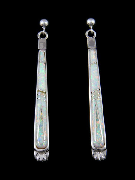Native American Inlay Opalite Post Earrings