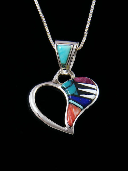 Spiny Oyster and Turquoise Heart Inlay Pendant