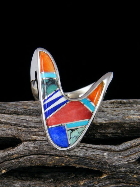 Multistone Inlay Ring, Size 6