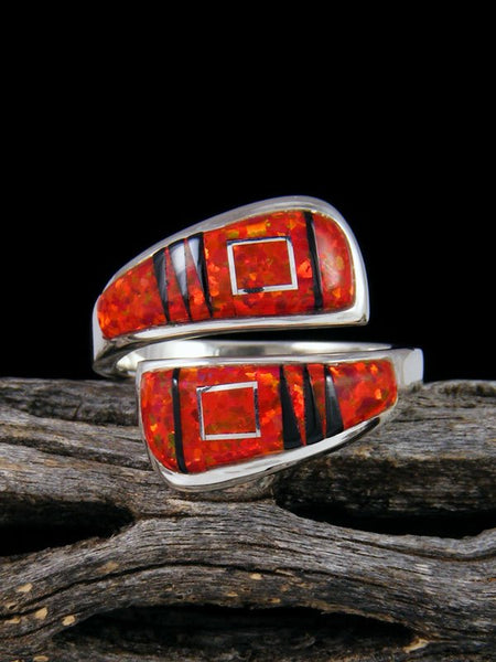 Adjustable Multistone Inlay Ring
