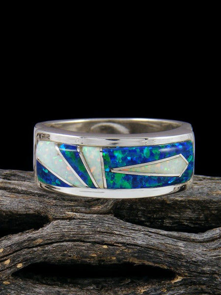 Opalite Inlay Ring, Size 10