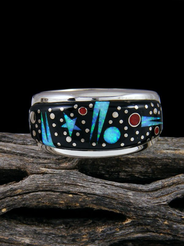 Night Sky Inlay Ring Size 10 1/2