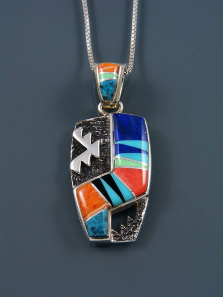 Navajo Multistone Inlay Pendant