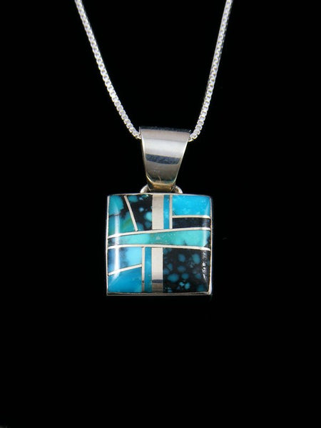 Native American Inlay Turquoise Pendant