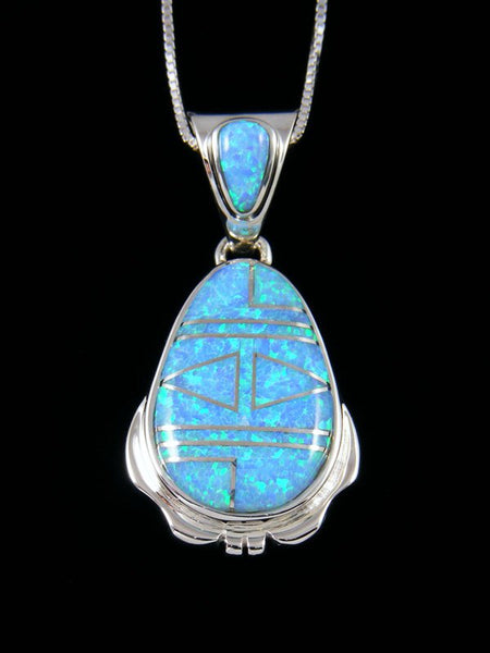 Native American Inlay Opalite Pendant