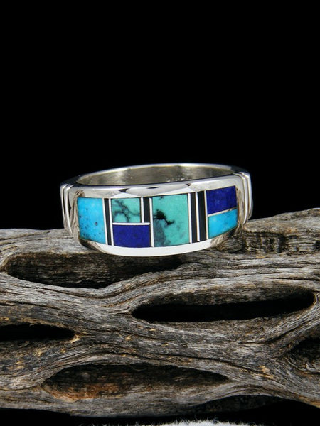 Turquoise Inlay Ring Size 11
