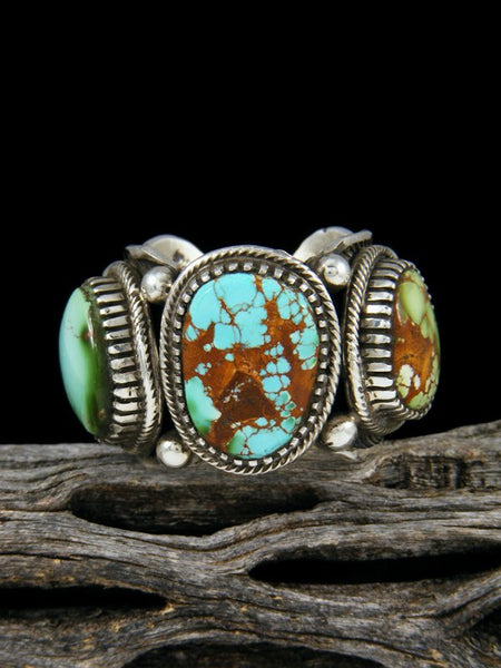 Natural Royston Turquoise Ring, Size 10 1/2