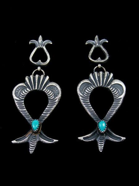 Native American Sandcast Turquoise Post Earrings