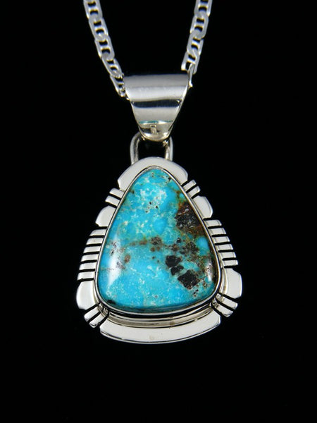 Native American Sunnyside Turquoise Sterling Silver Pendant