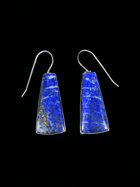 Sterling Silver Lapis Dangle Earrings