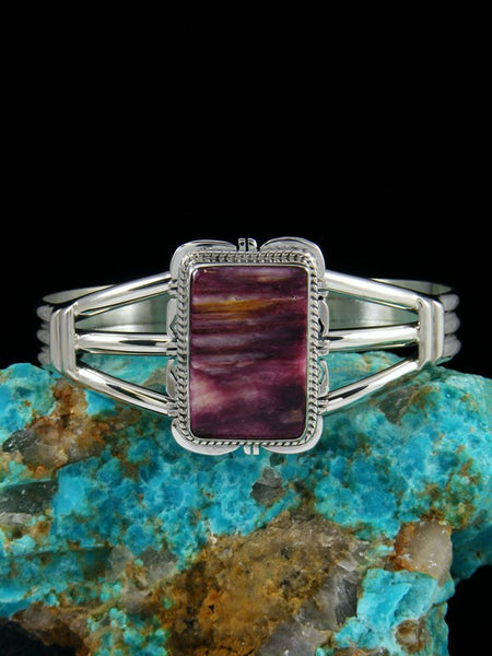 Native American Purple Spiny Oyster Cuff Bracelet