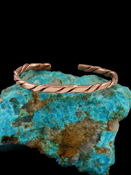 Native American Twisted Copper Cuff Bracelet