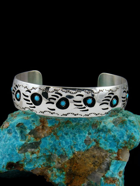 Medium Turquoise Bear Paw Shadowbox Bracelet