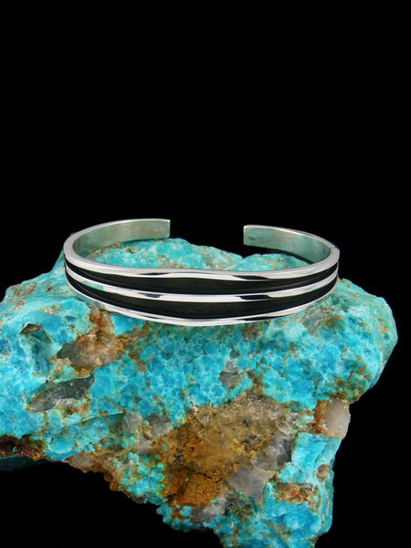Heavy Native American Jewelry Sterling Silver Cuff Bracelet