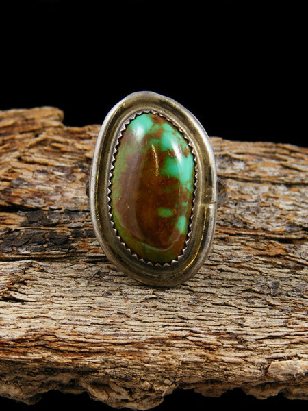 Vintage Native American Sterling Silver Turquoise Ring, Size 5