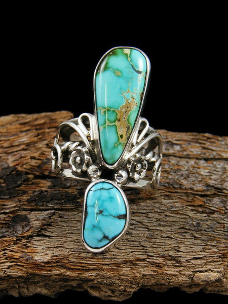 Royston and Kingman Turquoise Sterling Silver Ring, Size 5.5
