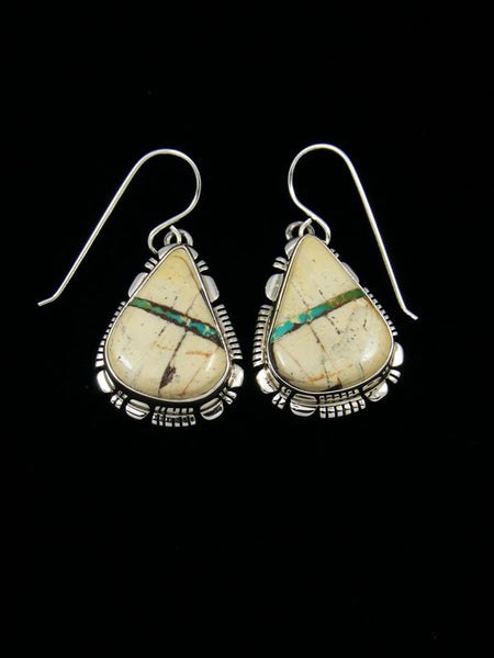 Native American Boulder Turquoise Earrings