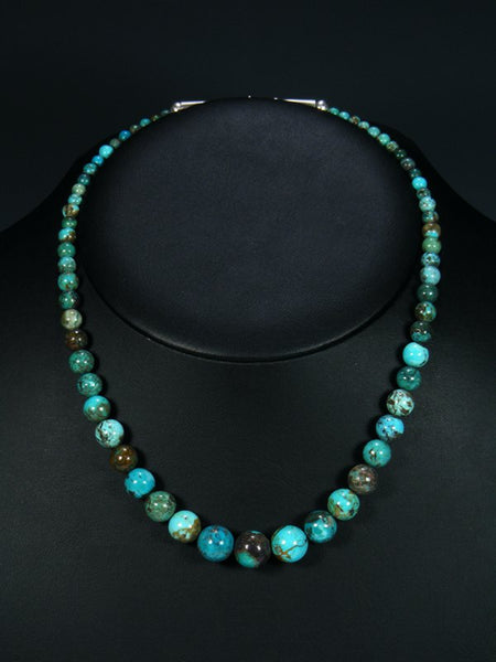 Native American Single Strand Turquoise Choker Necklace