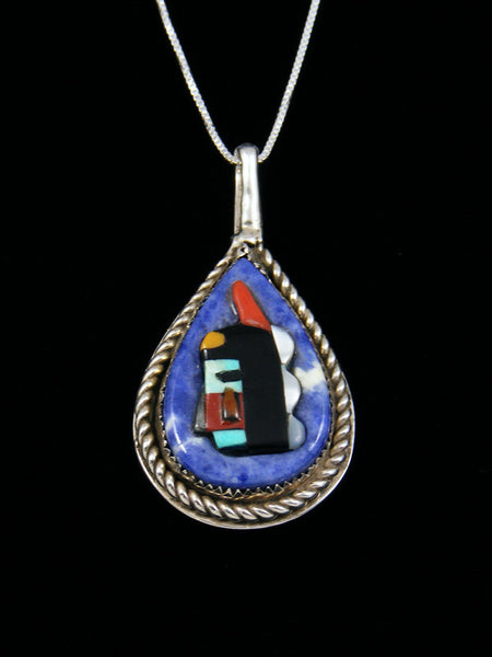 Native American Zuni Inlay Kachina Pendant
