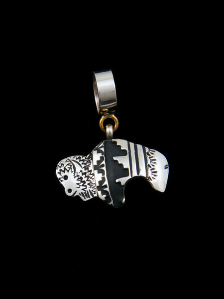 Sterling Silver Overlay Buffalo Pendant