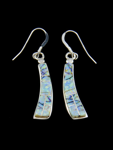 Native American Indian Jewelry Cultured Opal Earrings