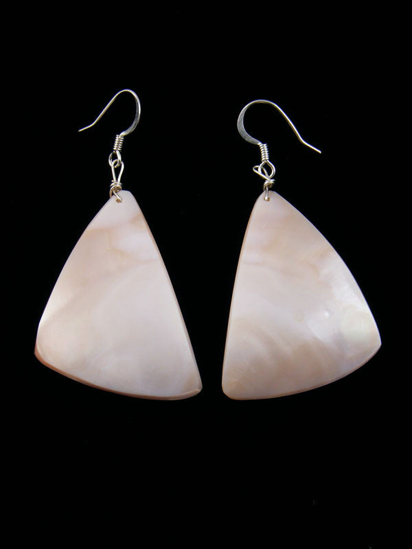 Pink Shell Earrings by Josephine Coriz - PuebloDirect.com