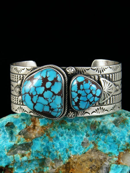 Native American Sterling Silver Egyptian Turquoise Bracelet