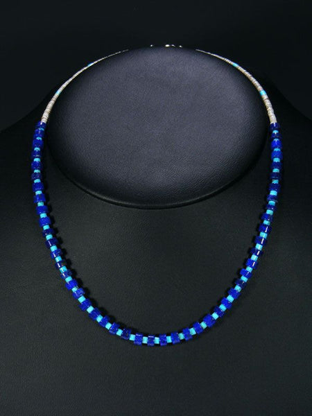 Native American Lapis and Turquoise Necklace by Isabelle John - PuebloDirect.com