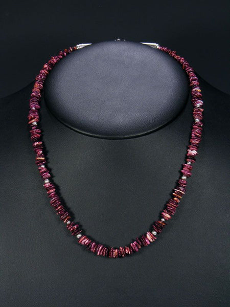 Native American Spiny Oyster Necklace by Rena Ration - PuebloDirect.com