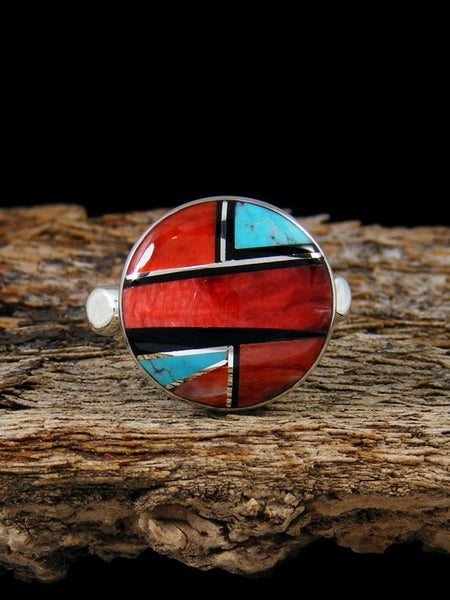 Spiny Oyster Inlay Ring, Size 6 1/2