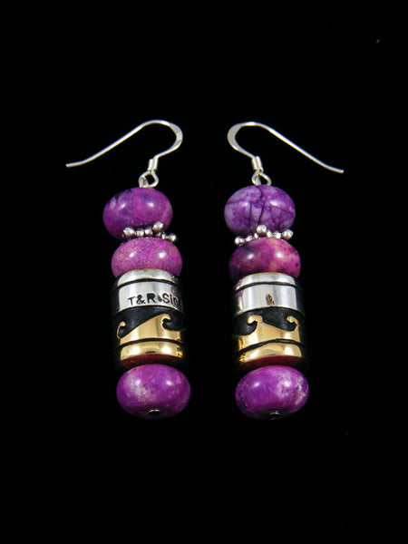 Dyed Jasper Dangle Earrings