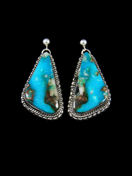 Turquoise Navajo Dangle Earrings