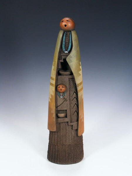Navajo Clay Mother Pottery Figure