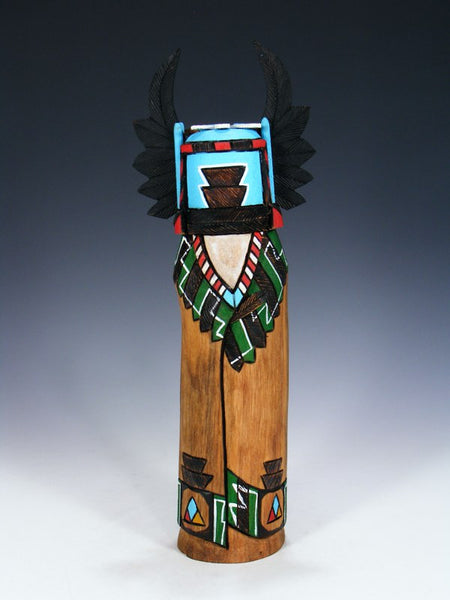 Reversible Black Crow and Crow Mother Kachina Doll