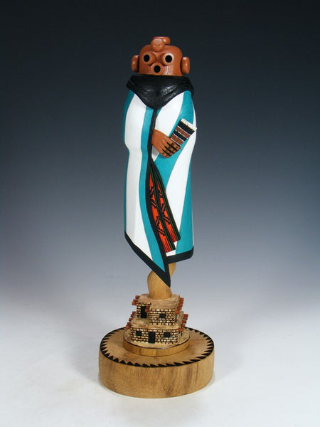 Carved Zuni Pueblo Mudhead Kachina Doll
